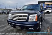 2004 Cadillac Escalade AWD / 6.0L Vortec V8 / Front & Rear Heated Leather Seats / Auto Start / Bose Speakers / Sunroof / Rear Entertainment / Rear Captain Chairs / 3rd Row / Seats 7 / Chrome Rims / Tow Pkg