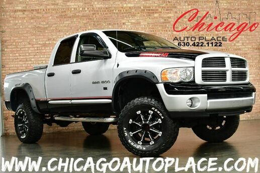 2004 Dodge Ram 1500 SLT - 5.7L V8 HEMI MAGNUM ENGINE 4 WHEEL DRIVE LIFTED SUSPENSION OFF ROAD TIRES CHARCOAL CLOTH INTERIOR INFINITY AUDIO 6 PASSENGER SEATING Bensenville IL