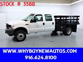Ford F550 ~ 4x4 ~ Crew Cab ~ 9ft Stake Bed ~ Only 45K Miles! 2004