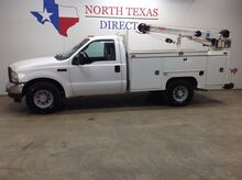 2004_Ford_Super Duty F-350 SRW_XL Single Cab Utility Bed 3200 Lb Auto Crane Tool Boxes_ Mansfield TX