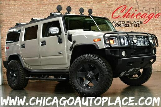 2004 HUMMER H2 4 WHEEL DRIVE 6.0L VORTEC V8 SFI ENGINE GRAY LEATHER FRONT + REAR HEATED SEATS SUNROOF BOSE AUDIO Bensenville IL