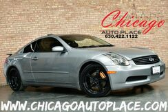 2004_INFINITI_G35 Coupe_w/Leather - 3.5L V6 ENGINE REAR WHEEL DRIVE BLACK LEATHER HEATED SEATS GLOSS BLACK WHEELS_ Bensenville IL