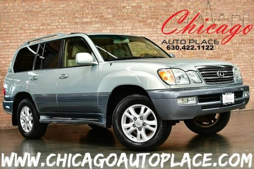 2004 Lexus LX 470 4.7L V8 ENGINE 4 WHEEL DRIVE NAVIGATION BACKUP CAMERA 3RD ROW SEATS BEIGE LEATHER HEATED SEATS WOOD GRAIN INTERIOR TRIM Bensenville IL
