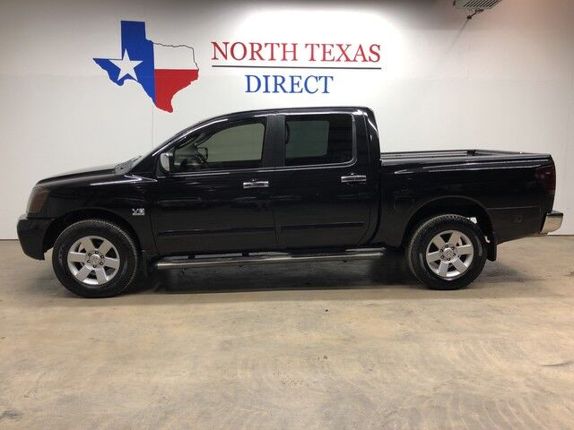 2004 Nissan Titan LE 4WD Heated Leather Bed Liner Step Rails Aux Cord Mansfield TX