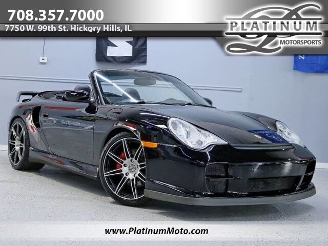 2004 Porsche 911 Turbo X50 Pkg 3 Owner Carbon Rear Wing Exhaust CD Changer Big Window Hickory Hills IL