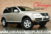2004 Volkswagen Touareg - 1 OWNER 3.2L V6 ENGINE 4 WHEEL DRIVE GRAY LEATHER HEATED SEATS WOOD GRAIN INTERIOR TRIM SUNROOF