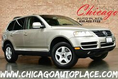 2004_Volkswagen_Touareg_- 1 OWNER 3.2L V6 ENGINE 4 WHEEL DRIVE GRAY LEATHER HEATED SEATS WOOD GRAIN INTERIOR TRIM SUNROOF_ Bensenville IL