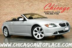 2005_BMW_6 Series_645Ci Convertible - 4.4L V8 ENGINE 6-SPEED MANUAL TRANSMISSION REAR WHEEL DRIVE SPORT PACKAGE PARKING SENSORS BLACK LEATHER XENONS_ Bensenville IL