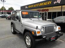 2005_JEEP_WRANGLER_X 4X4 4.0L STRAIGHT 6 CYL,CERTIFIED W/ WARRANTY, A/C, CRUISE, MANUAL, LOW MILES, SUPER CLEAN!!!_ Norfolk VA