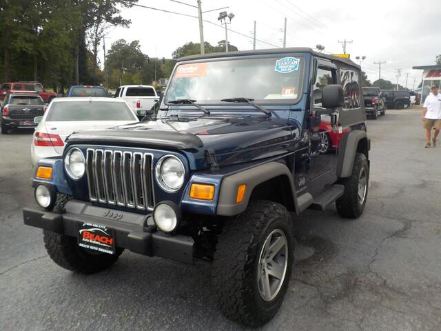 2005 JEEP WRANGLER UNLIMITED 4X4, BUYBACK GUARANTEE, WARRANTY, SOFT TOP, RUNNING BOARDS, TOW PACKAGE, CD PLAYER, A/C! Norfolk VA