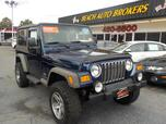 2005 JEEP WRANGLER UNLIMITED 4X4, CERTIFIED W/WARRANTY, SOFT TOP, RUNNING BOARDS, TOW PACKAGE, CD PLAYER, A/C, NICE!!!!