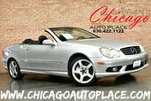 2005 Mercedes-Benz CLK-Class CLK 500 CABRIOLET - 5.0L V8 ENGINE REAR WHEEL DRIVE BLACK LEATHER SPORT SEATS WOOD GRAIN INTERIOR TRIM