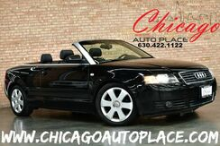 2006_Audi_A4_1.8T Cabriolet - 1.8L I4 TURBOCHARGED ENGINE FRONT WHEEL DRIVE NAVIGATION BLACK LEATHER HEATED SEATS XENONS BOSE AUDIO WOOD GRAIN INTERIOR TRIM_ Bensenville IL