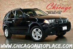 2006_BMW_X3_3.0i - 3.0L I6 ENGINE ALL WHEEL DRIVE BLACK LEATHER HEATED SEATS PANO ROOF WOOD GRAIN INTERIOR TRIM PREMIUM ALLOY WHEELS_ Bensenville IL