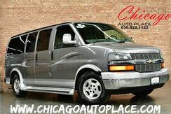 2006_Chevrolet_Express Van_5.3L VORTEC V8 1 OWNER 2-TONE LEATHER CAPTAINS CHAIRS 3RD ROW SEATING REAR TV WOOD GRAIN TRIM_ Bensenville IL