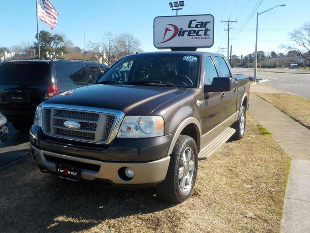 2006 FORD F-150 KING RANCH 4X4, BUY BACK GUARANTEE AND WARRANTY,  BED LINER, TOW PACKAGE, SUNROOF, ONLY 113K MILES!! Virginia Beach VA