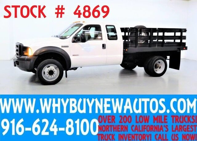 2006 Ford F550 ~ 9ft Stake Bed ~ Diesel ~ Extended Cab ~ Only 45K Miles! Rocklin CA