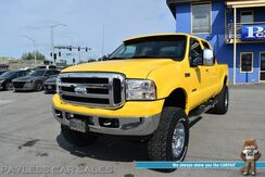 2006_Ford_Super Duty F-350_Amarillo Edition / 4X4 / 6.0L Turbo Diesel / Crew Cab / Sky Jacker Lift Kit / Auto Start / Power & Heated Leather Seats / Sunroof / Pioneer Touch Screen / Bluetooth / Cruise Control / Tow Pkg_ Anchorage AK