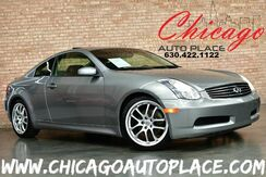 2006_INFINITI_G35_Coupe - 6-SPEED MANUAL 3.5L ALUMINUM V6 ENGINE REAR WHEEL DRIVE NAVIGATION BLACK LEATHER HEATED SEATS SUNROOF XENONS BOSE AUDIO_ Bensenville IL