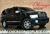 2006 INFINITI QX56 5.6L DOHC V8 ENGINE 4 WHEEL DRIVE BLACK LEATHER HEATED SEATS 3RD ROW SEATING REAR TV SUNROOF WOOD GRAIN INTERIOR TRIM