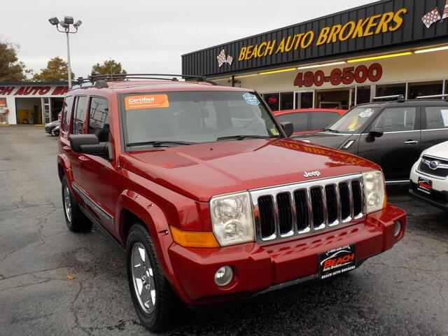 2006 JEEP COMMANDER LIMITED 4X4, BUYBACK GUARANTEE,WARRANTY,LEATHER, NAVIGATION, SUNROOF, DVD PLAYER, 3RD ROW,LOW MILES! Norfolk VA