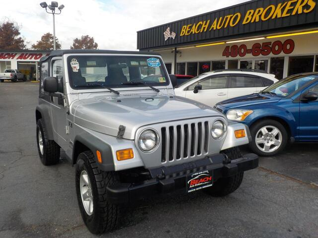 2006 JEEP WRANGLER X 4X4,BUYBACK GUARANTEE, WARRANTY, SOFT TOP, A/C, MANUAL, CD PLAYER, LOW MILES, VERY CLEAN! Norfolk VA