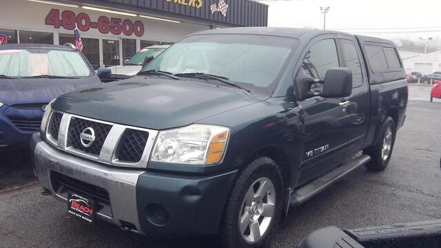 2006 NISSAN TITAN SE EXT CAB AUTOCHECK CERTIFIED CAMPER SHELL HEATED MIRRORS .