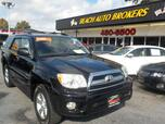 2006 TOYOTA 4RUNNER SR5 4X4, CERTIFIED W/WARRANTY, LEATHER, TOW PKG, SUNROOF, RARE 3RD ROW SEATS, ONLY 1 OWNER!!