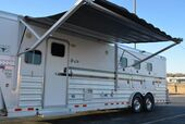 2007 4 Star Outlaw 12 Foot Short Wall 3 Horse Slant Living Quarters Horse Trailer