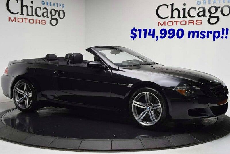 2007_BMW_m6 $114,990 msrp Super Clean Inside out_Black Merino Leather~Heads Up~Carfax certified_ Chicago IL