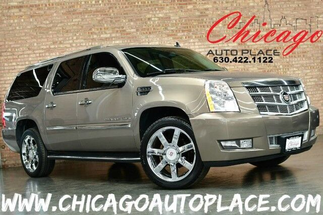 2007 Cadillac Escalade ESV AWD - 6.2L VORTEC VVT V8 ENGINE BLACK LEATHER HEATED/COOLED SEATS BACKUP CAMERA BOSE AUDIO REAR TV'S 3RD ROW SEATING WOOD GRAIN INTERIOR TRIM Bensenville IL