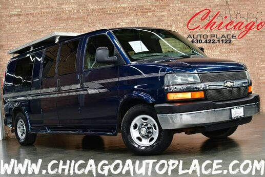 2007 Chevrolet Express Passenger Van 1 OWNER 6.0L VORTEC V8 ENGINE 8 CAPTAINS CHAIRS GRAY LEATHER REAR LCD TV ROOF STORAGE Bensenville IL