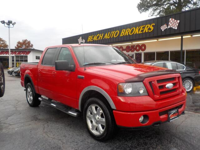 2007 FORD F-150 FX4 4X4, BUYBACK GUARANTEE, WARRANTY, LEATHER, HEATED SEATS, TOW PKG, RUNNING BOARDS, PRISTINE!!!!!! Norfolk VA