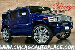 2007_HUMMER_H2_SUV - 6.0L VORTEC V8 ENGINE 4 WHEEL DRIVE 28'' CHROME WHEELS BLACK LEATHER HEATED SEATS SUNROOF REAR TV'S BOSE AUDIO 3RD ROW SEAT_ Bensenville IL