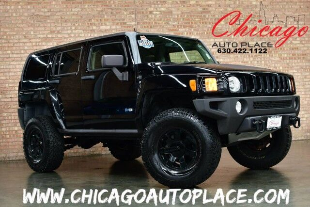 2007 hummer h3 suv 1 owner 4wd off road tires lifted suspension heated seats bensenville il. Black Bedroom Furniture Sets. Home Design Ideas