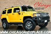 2007 HUMMER H3 SUV - 3.7L 5-CYL MFI ENGINE 4 WHEEL DRIVE BLACK/YELLOW LEATHER INTERIOR SUNROOF CHROME WHEELS