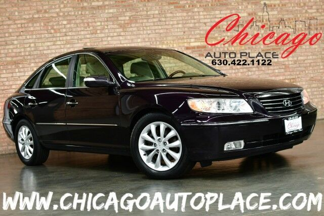 2007 Hyundai Azera Limited - 3.8L MPI CVVT V6 ENGINE 1 OWNER TAN LEATHER HEATED SEATS SUNROOF INFINITY AUDIO SYSTEM WOOD GRAIN INTERIOR TRIM Bensenville IL