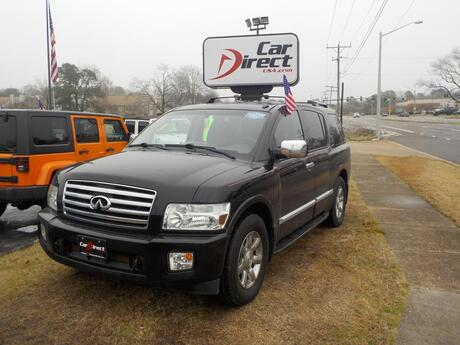 2007 INFINITI QX56 4X4, BUYBACK GUARANTEE, WARRANTY, 3RD ROW, NAVIGATION, DVD ENTERTAINMENT, BOSE SYSTEM, FULLY LOADED! Virginia Beach VA