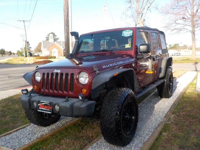 2007 JEEP WRANGLER UNLIMITED RUBICON 4X4, WARRANTY, MANUAL, TOW PKG, SIRIUS RADIO, RUNNING BOARDS, FOG LAMPS,FOG LAMPS! Norfolk VA