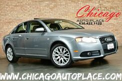 2008_Audi_A4_2.0T S-LINE - 2.0L TFSI I4 TURBOCHARGED ENGINE QUATTRO ALL WHEEL DRIVE BLACK LEATHER HEATED SEATS SUNROOF XENONS PREMIUM ALLOY WHEELS_ Bensenville IL