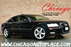 2008_Audi_A8_4.2L V8 ENGINE QUATTRO ALL WHEEL DRIVE BROWN LEATHER INTERIOR NAVIGATION BACKUP CAMERA FRONT + REAR HEATED SEATS BOSE AUDIO XENONS_ Bensenville IL