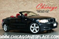 2008_BMW_1 Series_128i CONVERTIBLE - 3.0L I6 ENGINE REAR WHEEL DRIVE CORAL RED LEATHER CARBON FIBER INTERIOR TRIM NAVIGATION PARKING SENSORS HEATED SEATS KEYLESS GO_ Bensenville IL
