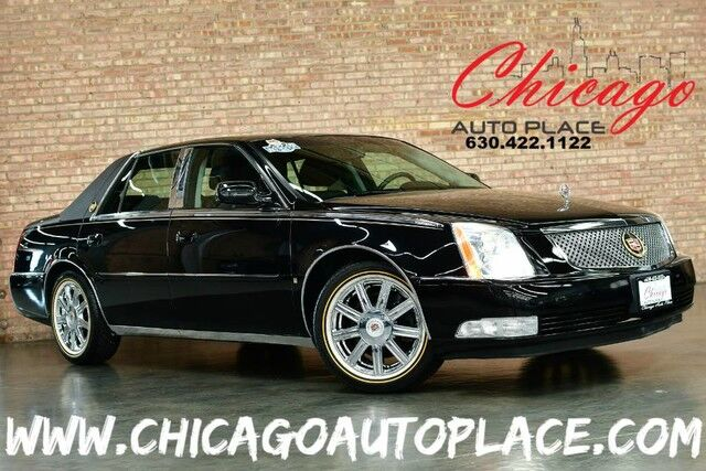 2008 Cadillac DTS w/1SC - 4 6L NORTHSTAR V8 ENGINE 1 OWNER FRONT WHEEL  DRIVE BLACK LEATHER WOOD GRAIN INTERIOR TRIM XENONS DUAL ZONE CLIMATE  CONTROL