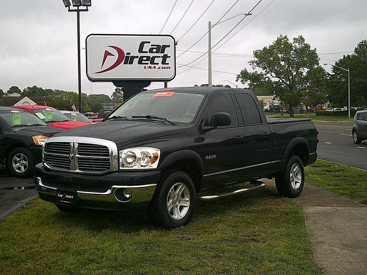 2008 dodge ram 1500 slt 4x4 big horn quad cab autocheck certified soft tonneau cover running. Black Bedroom Furniture Sets. Home Design Ideas