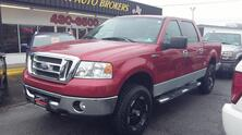 FORD F-150 XLT CREW CAB 4X4, AUTOCHECK CERTIFIED, LIFTED, SIRUIS SAT, PARKING SENSORS, TOW PKG, ONLY 66K MILES! 2008