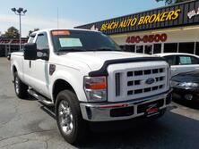 FORD F-250 XLT SUPERCAB 4X4,CERTIFIED W/ WARRANTY, 1 OWNER, DIESEL, CHROME, BED LINER, TONNEAU, LEATHER, TOW!!! 2008