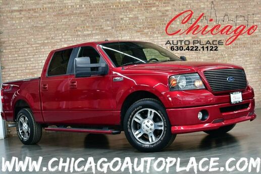 2008 Ford F-150 FX2 SUPERCREW - 4.6L EFI V8 ENGINE REAR WHEEL DRIVE BLACK/RED CLOTH SPORT SEATS AUX INPUT JACK CLIMATE CONTROL Bensenville IL