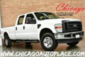 2008 Ford Super Duty F-250 SRW CREW CAB XL - 6.4L TURBO-DIESEL POWER STROKE ENGINE TAN LEATHER INTERIOR EXTENDED SIDE MIRRORS POWER INVERTER