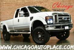 2008_Ford_Super Duty F-350_Lariat SUPERCAB - 6.4L V8 TURBO-DIESEL POWER STROKE ENGINE 4 WHEEL DRIVE NAVIGATION PARKING SENSORS TAN LEATHER HEATED SEATS LIFTED SUSPENSION_ Bensenville IL