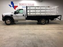 2008_Ford_Super Duty F-450 DRW_XL DRW Stake Bed Flat Bed 1600 lb Lift Gate 1 Owner_ Mansfield TX